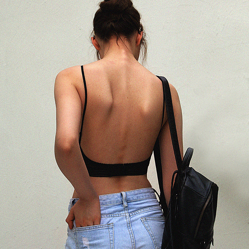 Backless Invisible Bra Set